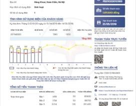 EVN công bố mẫu hóa đơn điện tử và thông báo tiền điện mới