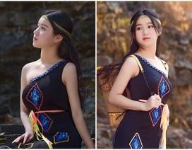 Thiếu nữ Đắk Lắk đẹp hút hồn trong trang phục dân tộc Ê Đê