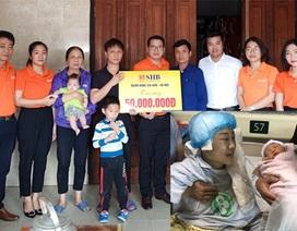 Ngân hàng SHB hỗ trợ cô giáo mầm non thoi thóp nơi bệnh viện 50 triệu đồng