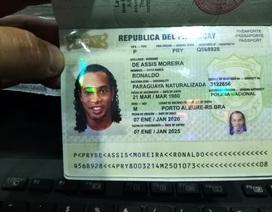 Ronaldinho bị bắt vì sử dụng hộ chiếu giả