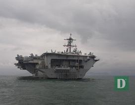 Siêu hàng không mẫu hạm Mỹ tiến vào vùng biển Đà Nẵng