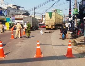 Người phụ nữ đi xe đạp tử vong dưới bánh xe container