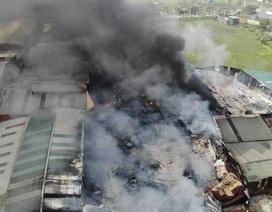 Xưởng sản xuất két sắt hơn 1.000m2 bốc cháy dữ dội