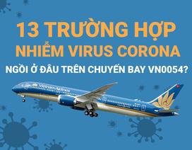 13 người nhiễm virus corona ngồi ở đâu trên chuyến bay VN0054?