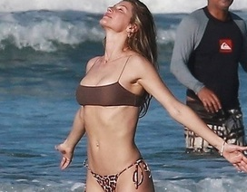 Gisele Bundchen khoe dáng thon đáng ngưỡng mộ trên biển