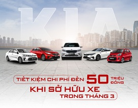 Tiết kiệm đến 50 triệu đồng khi sở hữu xe Kia trong tháng 3