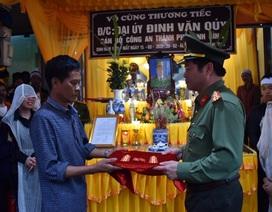 Thăng cấp bậc hàm cho Đại úy hy sinh trên đường dẫn giải phạm nhân