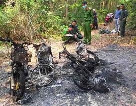 3 xe máy của cán bộ bảo vệ rừng bị thiêu rụi