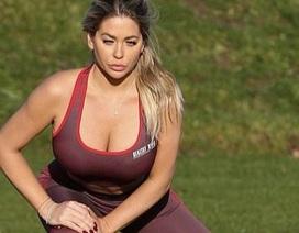Bianca Gascoigne gợi cảm đi tập thể dục