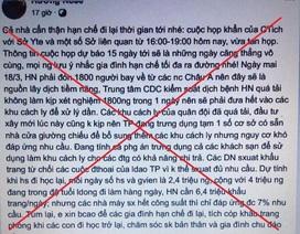 """Xử lý 2 trường hợp hoang tin thành phố Hà Nội """"vỡ trận"""" chống Covid-19"""