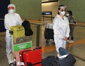 Thái Trác Nghiên, Chung Hân Đồng che kín người ở sân bay