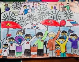 Dịch Covid-19 diễn biến phức tạp, học sinh vẽ ước mơ lên tranh