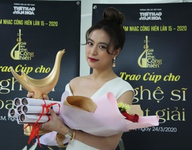 Hoàng Thùy Linh xuất sắc đoạt 4 giải Âm nhạc Cống hiến