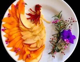 """Cô giáo """"vẽ"""" phượng hoàng, công chúa bằng thịt cá, hoa quả"""