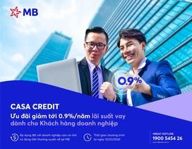CASA CREDIT- chương trình ưu đãi lãi suất vay của MB dành cho khách hàng doanh nghiệp mùa Covid