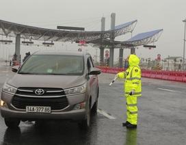 Lập chốt kiểm soát tại cao tốc Hà Nội - Hải Phòng, nhiều xe phải quay đầu