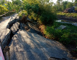 Đường giao thông vùng ngọt hóa bị sụt lún: Vì sao chưa thể khắc phục ngay?