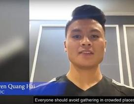 AFC chọn Quang Hải để truyền cảm hứng phòng chống dịch Covid-19 toàn cầu