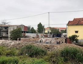 Quảng Bình: Ngang nhiên lấn chiếm đất thuỷ lợi xây dựng móng nhà!