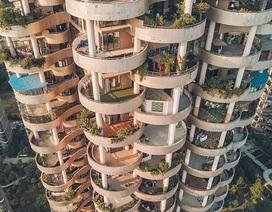 """Tòa chung cư với kiến trúc """"kỳ lạ"""", càng nhìn càng """"hút mắt"""" như mê cung"""