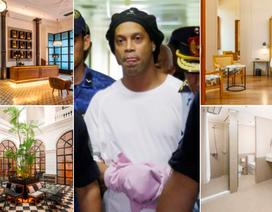 Ronaldinho ở khách sạn hạng sang trong thời gian quản thúc