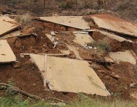 Công trình chưa bàn giao đã hư hỏng khi mùa mưa chưa bắt đầu