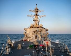 Mỹ đưa tàu chiến qua eo biển Đài Loan cùng ngày Trung Quốc tập trận