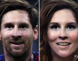 Bất ngờ với nhan sắc xinh đẹp của C.Ronaldo, Messi khi… chuyển giới
