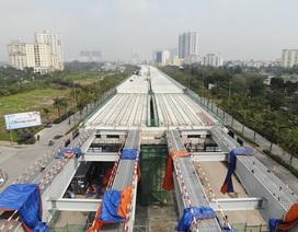 Ngày 30/9 thông xe đường trên cao Mai Dịch - Nam Thăng Long