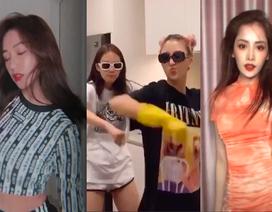 Ở nhà tránh dịch, các hot girl bày đủ trò tấu hài, nhảy nhót, biến hình