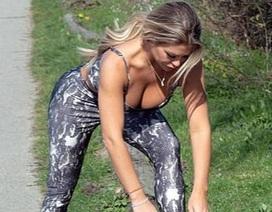 Bianca Gascoigne bốc lửa đi tập thể dục