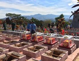 Truy điệu, an táng 21 hài cốt liệt sĩhy sinh tại Lào và Campuchia
