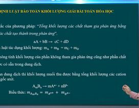 Ôn tập lớp 12: Áp dụng định luật bảo toàn khối lượng giải bài toán hóa học