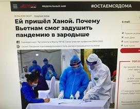 Báo chí Nga ca ngợi thành công của Việt Nam trong chống dịch Covid-19
