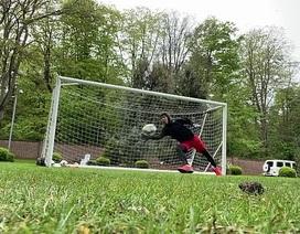 Tiền đạo Firrmino trổ tài bắt bóng không kém gì thủ thành Alisson