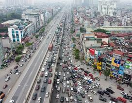"""Hà Nội: Hình ảnh ô tô """"không lối thoát"""" tại đường vành đai 3 trên cao"""