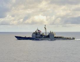 Tàu chiến Mỹ áp sát quần đảo Trường Sa