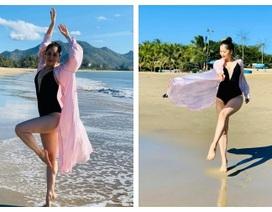 Khánh Thi khoe trọn thân hình nuột nà trên bãi biển trong kỳ nghỉ lễ