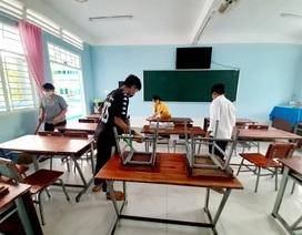 Các trường tất bật dọn dẹp chuẩn bị đón học sinh trở lại trường ngày 4/5
