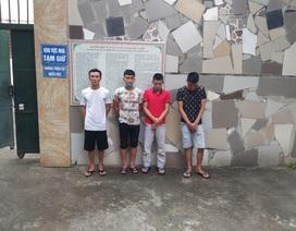 Băng nhóm thanh thiếu niên gây ra hàng loạt vụ trộm cắp