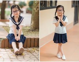Bé gái 6 tuổi nhí nhảnh, dễ thương với bộ ảnh đồng phục học sinh