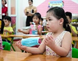 Tiết học phòng chống Covid-19 cho trẻ mầm non ở Hà Nội