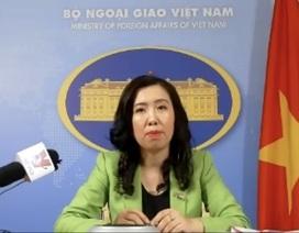 Việt Nam phản ứng việc Trung Quốc đưa máy bay quân sự tới đá Chữ Thập