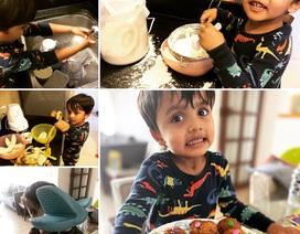 Bé trai 3 tuổi làm bánh bán lấy tiền ủng hộ chống Covid-19