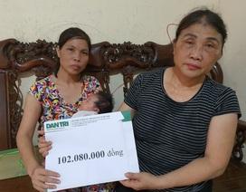 Người vợ không thể về chịu tang chồng được bạn đọc giúp đỡ gần 200 triệu