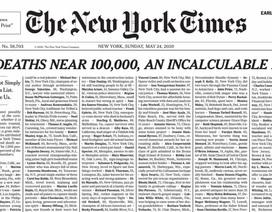 Trang nhất New York Times phủ kín tên 1.000 người chết vì Covid-19