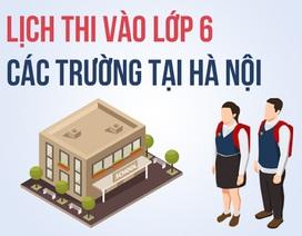 Infographic: Lịch thi vào lớp 6 các trường tại Hà Nội