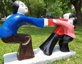 """Giới mỹ thuật """"sốc nặng"""" trước việc sơn lại tượng ở Công viên Thống Nhất"""