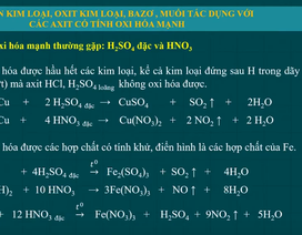 Ôn thi môn Hóa tốt nghiệp THPT: Phản ứng oxi hóa khử