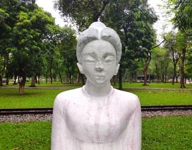 Bị phản ứng dữ dội, tượng ở Công viên Thống Nhất lại đổi màu sơn